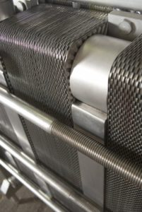 Plate Heat Exchanger closeup