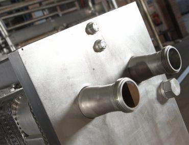 Plate Heat Exchanger closeup