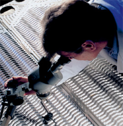 Inspecting a heat exchanger plate